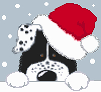 Christmas Dog Cross Stitch Kit
