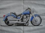 Harley Davidson Fat Boy Caricature Cross Stitch Kit