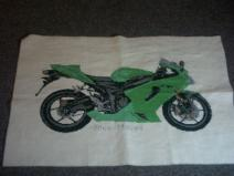 Kawasaki ZXR6 Ninja Motorcycle Cross Stitch Kit