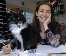 Ann Edwards and her cat Thomas
