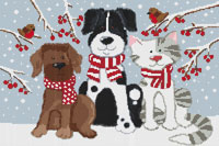 Kate Mawdsley by Stitchtastic Pets in the Snow Cross Stitch Kit
