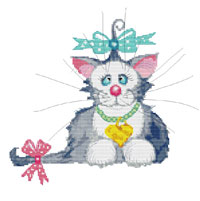 Ann Edwards by Stitchtastic Princess Whiskers Cross Stitch Kit