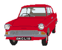 Ford Anglia Cross Stitch Kit