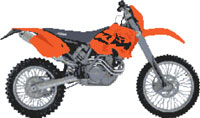 KTM 450 Exec 2003 Motorcycle Cross Stitch Kit