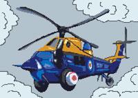 Rescue Helicopter Cross Stitch Kit
