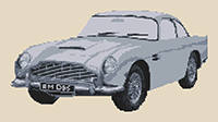 Aston Martin DB5 Cross Stitch Kit