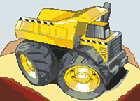 Dumper Truck Cross Stitch Kit