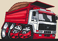 Volvo Dumper Truck Cross Stitch Kit