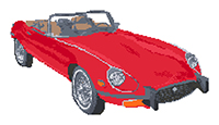 Jaguar E Type Roadster Cross Stitch Kit