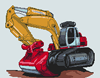 Digger Cross Stitch Kit
